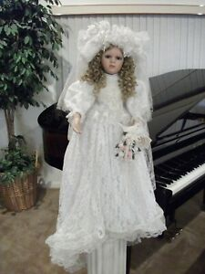 """Rachel 28"""" Porcelain Doll by Norma Rambaud"""