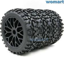 4pc 1/8 RC Off Road Buggy Badlands Tire Hex 17mm Wheels For 1:8 Losi HPI XTR Car