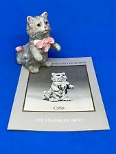 The Franklin Mint Curio Cabinet Cats: CYBIS w/ Booklet