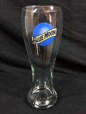 "BLUE MOON Belgium White Ale Beer Glass 16oz 8"" Bar Pub Man Cave New!"