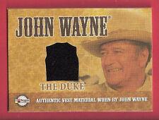 "JOHN ""THE DUKE"" WAYNE AUTHENTIC WORN BLACK VEST MATERIAL SWATCH RELIC CARD"