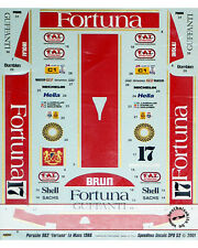 FORTUNA LE MANS 1986 DECAL for TAMIYA 1/24 PORSCHE 962