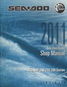 2011 SEA-DOO SPORT BOATS 150,180,200,210,230 SHOP MANUAL 219 100 540 (057)