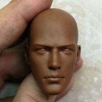 "Blank 1/6 Scale African Monk Head Sculpt Unpainted Fit 12"" Body"
