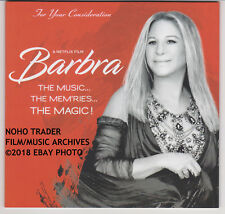 2018 FYC DVD BARBRA STREISAND THE MUSIC MEM'RIES MAGIC EMMY SPECL BAGGED BOARDED