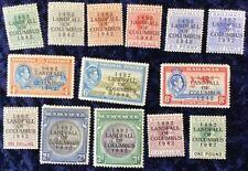 Bahamas George VI Landing of Columbus 1492/1942 Mint SG 162 to 175