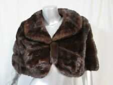 Mahogany MINK Shawl Wrap with Bow Front Beautiful Wedding Dark Brown Cape