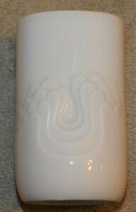 VINTAGE MID CENTURY THOMAS GERMANY (ROSENTHAL) WAVES VASE PURE WHITE