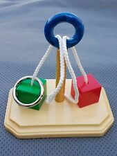 The Jah Boukie Rope Ring Puzzle - 7inch with Cubes