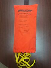 "Nypd Style Ring Buoy Bag with 90 ft of 3/8"" polypropylene floating rope."