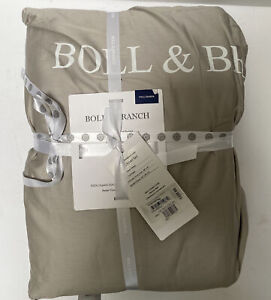 Boll & Branch Embroidered Duvet Cover & Sham Set, Size Full/Queen - Grey