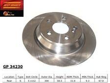 Disc Brake Rotor-RWD Rear Best Brake GP34230