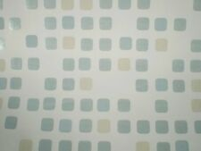 Metallic Blue & Beige Squares on White Background by Brewster  FD62167