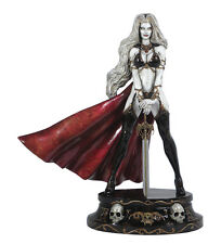 CS Moore Lady Death Faux Bronze White Version Full Size Statue Factory Sealed