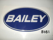 Bailey blue and white oval badge for caravan dent cover ups BOB1