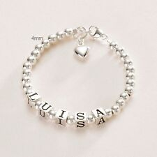 Sterling silver Personalised Bracelet Boys Girls Named i.d. Jewellery, Any Name!