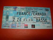 Billet match France - Canada - 23 novembre 2002 - Test match