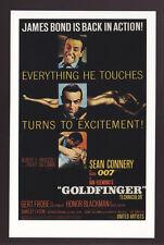 JAMES BOND POSTCARD 007 Goldfinger (1964) U.S. USA Poster Reprint Sean Connery