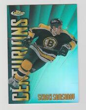 1998/99 TOPPS FINEST SERGEI SAMSONOV CENTURIONS REFRACTOR /75 CARD #C20