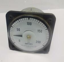 GENERAL ELECTRIC 0-200 DC AMPERES 6485KB1181A *PZB*