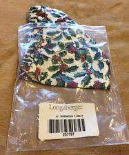 "Longaberger Liner 10"" Generation Item 237797 - Holly Pattern"