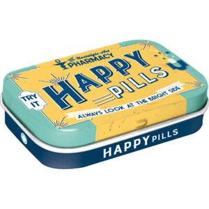 Happy Pills Nostalgic Sugar Free Mint Tin - Cracker Filler Gift