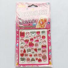 hotCrystal Stickers Self Adhesive Glitter Rhinestone  Diamond Gem Decal kid gift