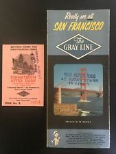 Vintage Travel Brochure, The Gray Line Really See All San Francisco With Ticket