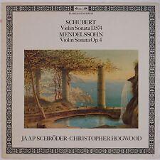 SCHUBERT, MENDELSSOHN: Violin Sonatas L'Oiseau Lyre DSLO Stereo SCHRODER NM LP