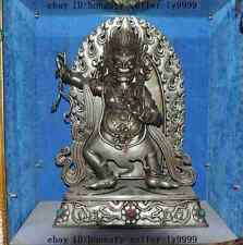 "28""100% tibet buddhism Meteorites iron Mahakala Buddha Gonpo god statue"