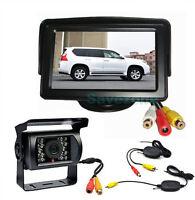 "Funk 18 IR LED Kamera Rückfahrkamera  + 4,3"" LCD Auto Monitor Rückansicht System"