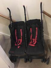 Mac By Maclaren  Twin Pushchair Double  Black/Red