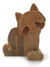Cat Sculpture Bottega Michelangeli Wood Carving Orvieto Italy Italian Signed