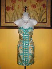 NWT  Arden B. $148 Pure Silk Strapless Sheath Dress Size XS