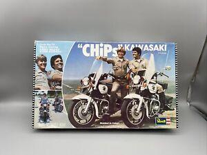 1/12 Revell Chips Kawasaki Model Kit #7800 1980 Issue