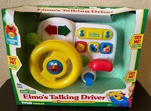 NEW Vtg 1997 Tyco Sesame Street Elmo's Talking Driver Toy Steering Wheel Works!