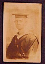 WWI Real Photo Postcard-USS Kearsage Sailor-Named-Undivided Back