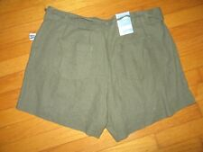 NWT Old Navy High Rise Fennel Seed Linen Blend Shorts size 10