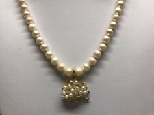 VTG Solid 14k Yellow Gold Pearl Enhancer Pendant With Genuine Diamonds Necklace