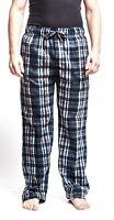Men's Black Flannel Fleece Brush Pajama Sleep & Lounge Pants (Black)