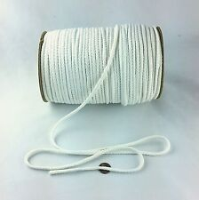 Cotton Drawcord Drawstring Cord 80B 5mm White 144 Yards