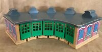 Thomas Wooden Roundhouse Learning Curve train vintage wood station house