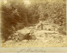 Suisse, Alpes bernoises, Femme à Beatenberg, ca.1900, vintage citrate print Vint