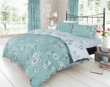 Duvet Set Flowers Birds Blossom Duck Egg Teal Bedding Quilt Cover Pillow Cases