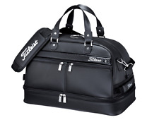 Titleist Golf Dual Storage Boston Bag Black Zippered Shoes Section Authentic