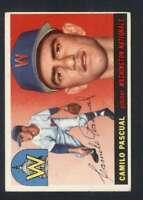 1955 Topps #84 Camilo Pascual EX/EX+ RC Rookie Senators 85522
