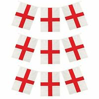 12ft World Cup Cricket Rugby England St George's Day Flag Bunting 12 Flags
