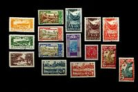 FRENCH GUINEA - Lot of 15 Mint Hinged Vintage Postage Stamps