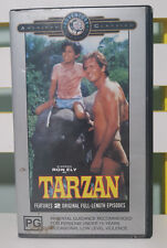 TARZAN RON ELY VHS VIDEO 1991 MOUNTAINS OF THE MOON PART ONE AND TWO!