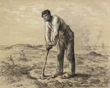 Jean-Francois Millet Reproduction: Man with a Hoe - Fine Art Print